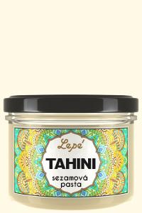 Tahini - Kvalitní pasta z jemně praženého sezamu bez přidaného oleje a soli. Používá se v blízkovýchodní a balkánské kuchyni, zejména k přípravě hummusu a chalvy. Výborná je také do zeleninových i ovocných salátů. Bohatá na aminokyseliny, omega-3 a omega-6 mastné kyseliny a mangan.