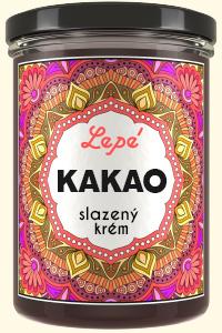 Kakao - Sladký krém z kvalitního kakaa odrůdy Criollo původem z ekologického zemědělství s vysokým podílem ořechů. Chutí podobný vysokoprocentní čokoládě. Bez emulgátorů, aromat, barviv a konzervantů. Výborný k přímé konzumaci, ale hodí se také jako poleva na zmrzlinu a ovocné saláty nebo jako náplň zákusků apalačinek. Vhodný k přípravě horké čokolády.